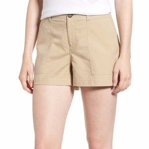 Nordstrom Signature Patch Pocket Khaki Shorts